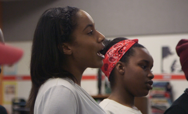 Young Gifted and Black performers rehearse after school at Oakland School for the Arts.