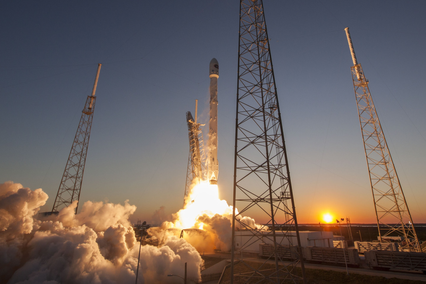 A SpaceX Falcon 9 lifts off from Cape Canaveral, Florida, on Feb. 11, carrying NASA's Deep Space Climate Observatory mission.  SpaceX