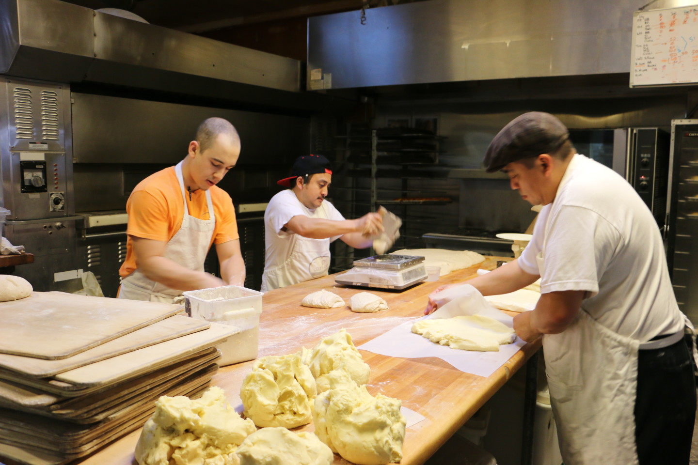 Maldonado brings in additional revenue by renting kitchen space to other bakers, (Joanne Elgart Jennings/KQED)
