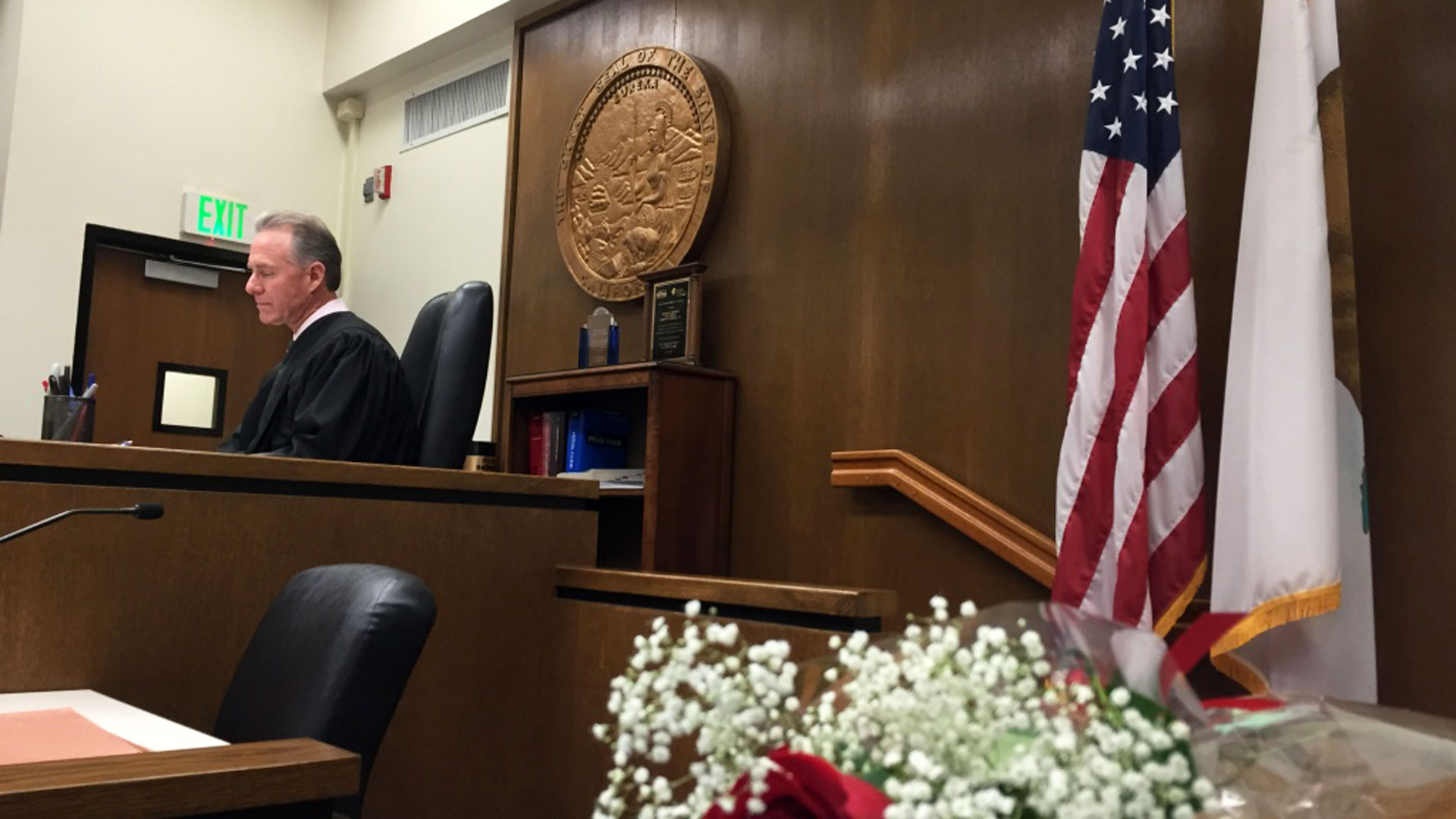 Judge Matt Anderson presides over his Newport Beach courtroom.