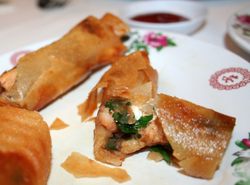 El Dragon Restaurante in Mexicali, Mexico serves an egg roll with shrimp, cilantro and cream cheese, a kind of Mexican-Chinese-American hybrid.