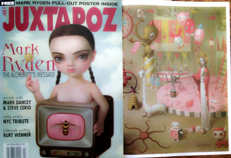 January 2002 Juxtapoz with Mark Ryden cover and pull-out poster.