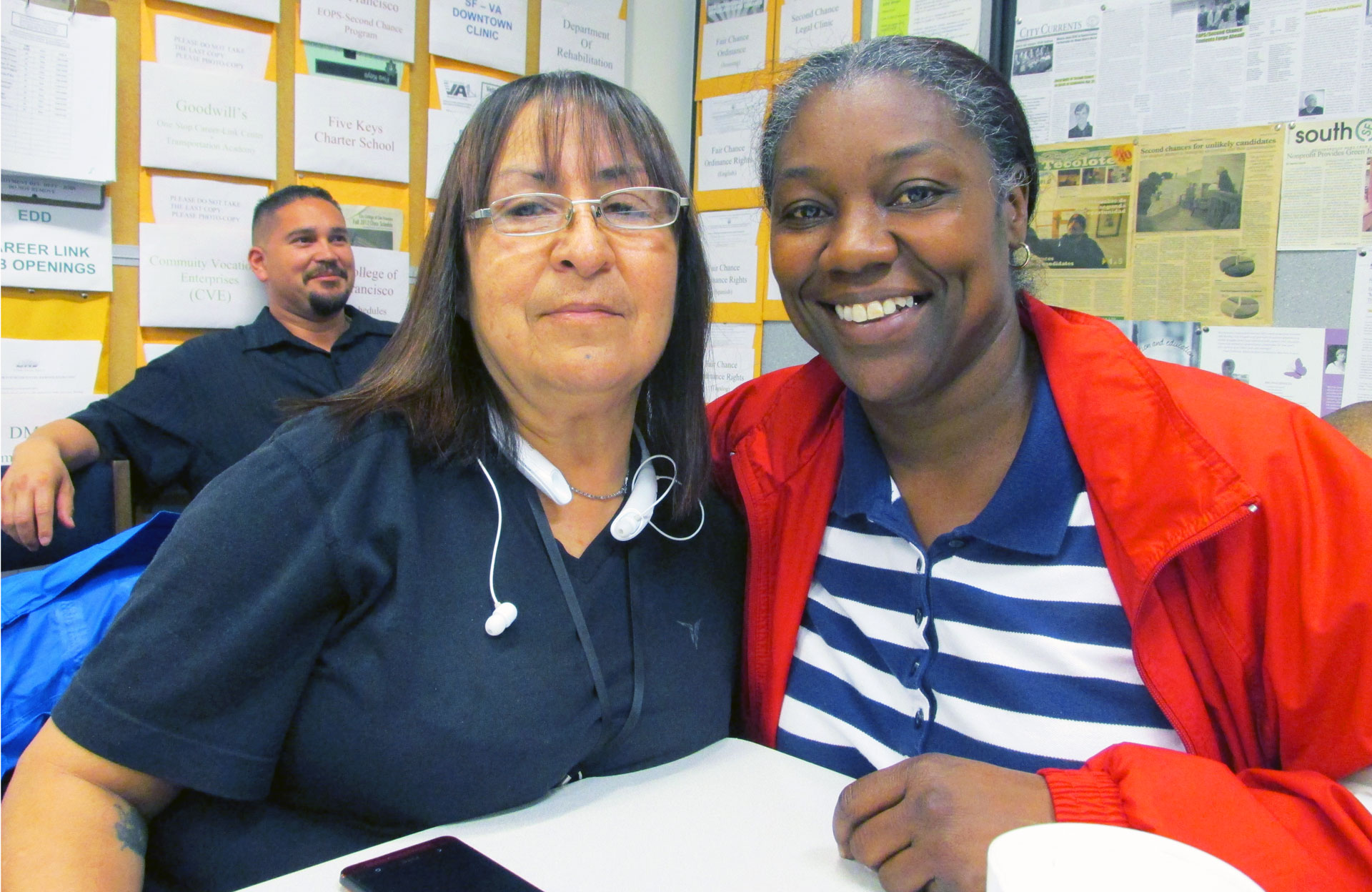 Paroled lifers Linda Candelaria (L) and Alisha Nolan Taplett are coming to terms with life on the outside after spending decades in prison for murder.