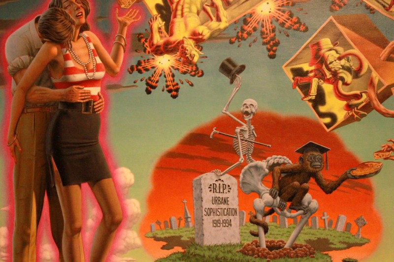 "Detail of Robert Williams' ""The Decline of Sophistication"""