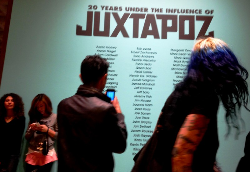 Visitors of all ages (and hair colors) attended the opening of  Robert Williams / Juxtapoz exhibit at the L.A. Municipal Art Gallery
