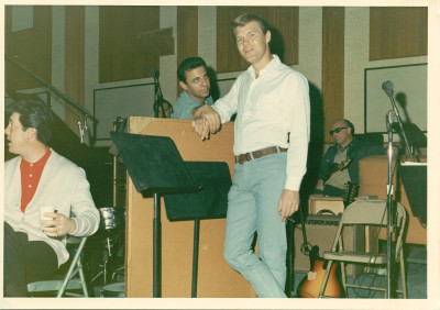 Hal Blaine and Glen Campbell of The Wrecking Crew. (Photo Courtesy: The Wrecking Crew)