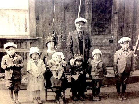 The Yamaichi family of Berryessa circa 1926. Jimi Yamaichi is second from the right.