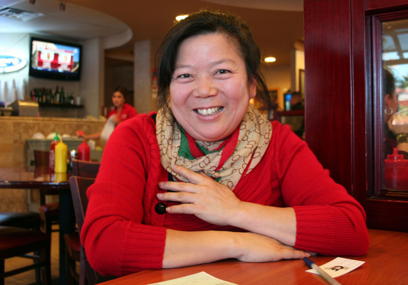 Jenissa Zhou, co-owner of Fortune Garden restaurant in El Centro, California.