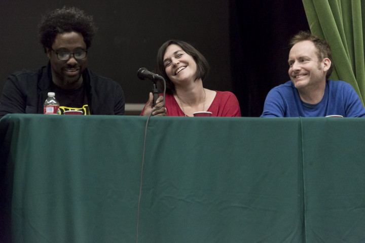 W. Kamau Bell, Melissa Hudson Bell and Michael Pearce.