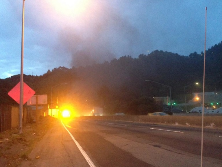 Caldecott Car Fire Forces Partial Tunnel Closure