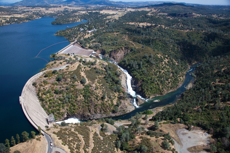 Here's an aerial view of Pardee Reservoir in the Sierra Nevada foothills.