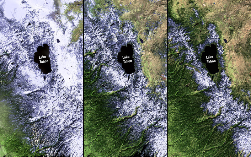 Images taken by the Enhanced Thematic Mapper Plus onboard Landsat 7 and the Operational Land Imager onboard Landsat 8.