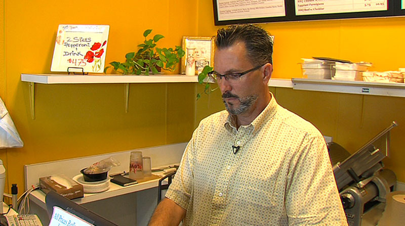 Patrick Quinn, owner of Sorrentino's Pizza in San Diego, talks about his energy bill.