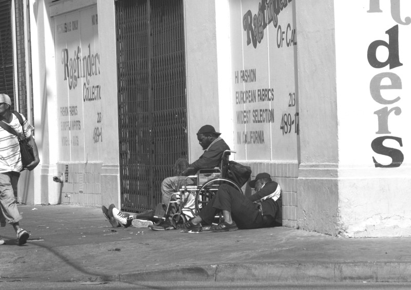 There are thousands of people living in Skid Row shelters and on the street on any given day