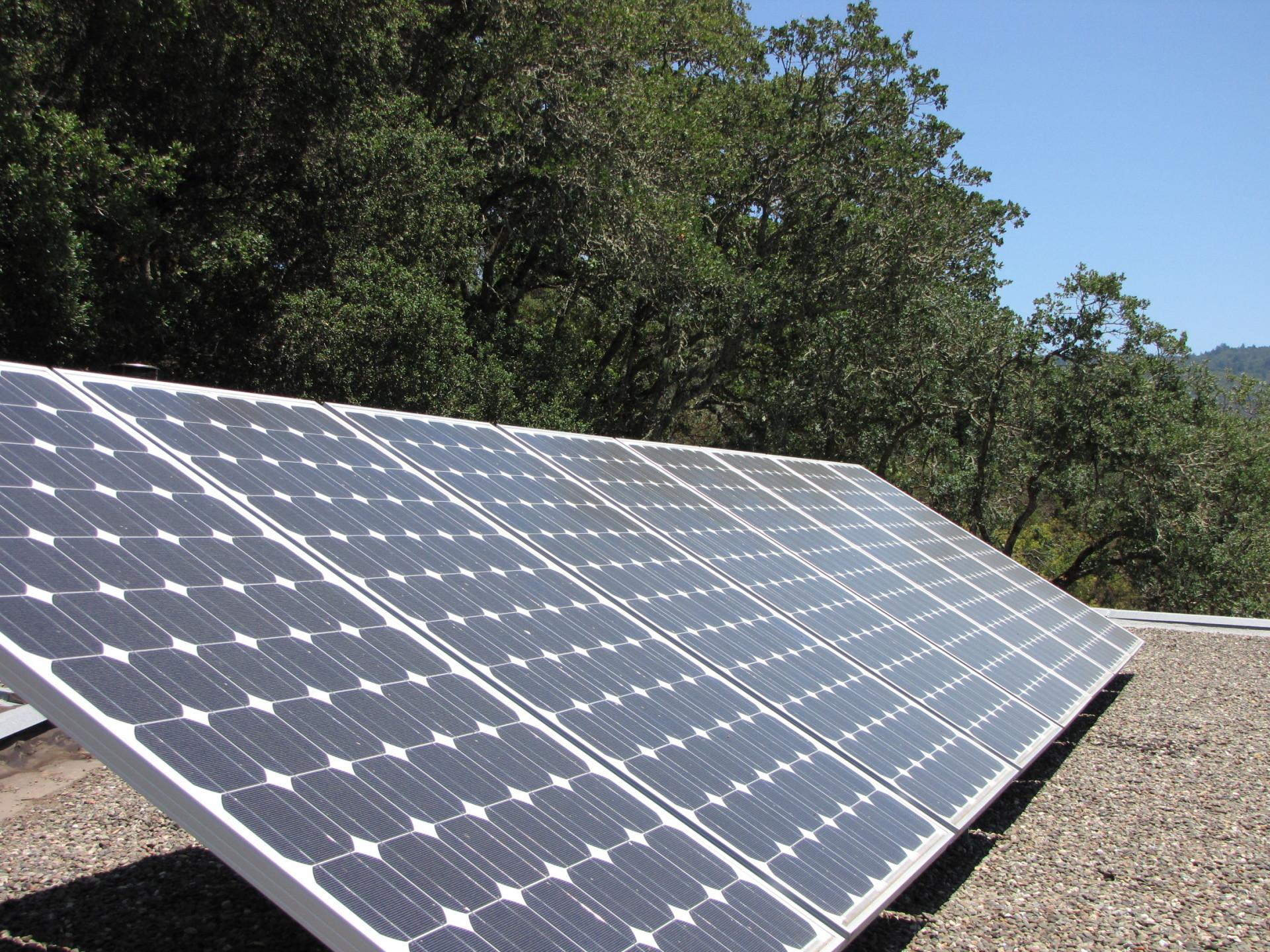 Residential solar panel.