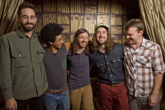 Anthony Ferraro, far left, with Toro y Moi. The group has just begun a world tour, starting with a string of dates across California that includes a stop at the world-famous Coachella festival next week.