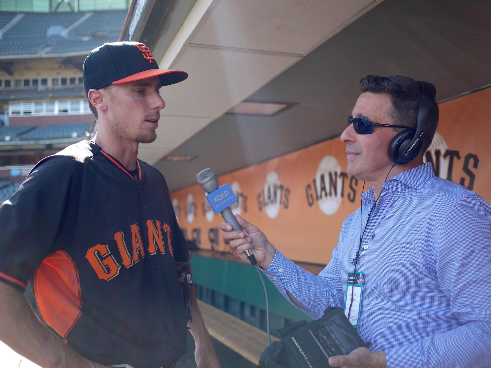 San Francisco Giants infielder Matt Duffy, interviewed by Scott Shafer on April 2.