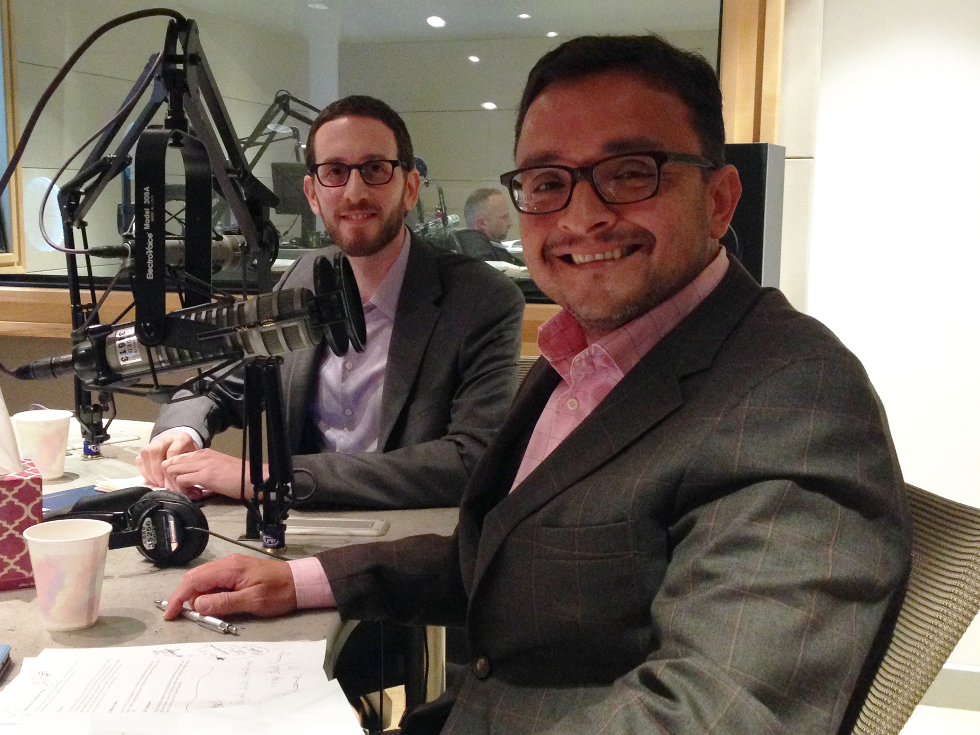 San Francisco Supervisors David Campos and Scott Wiener in the KQED studio