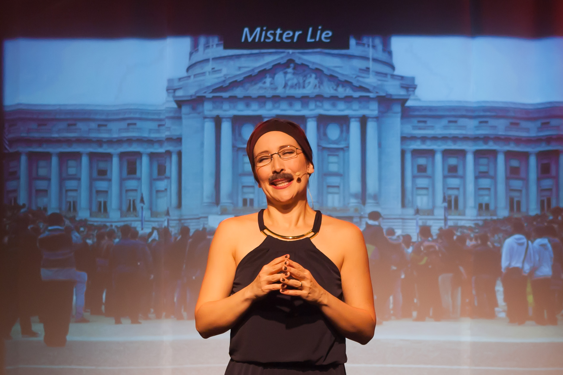 "Eliana Lopez as ""Mr. Lie."""