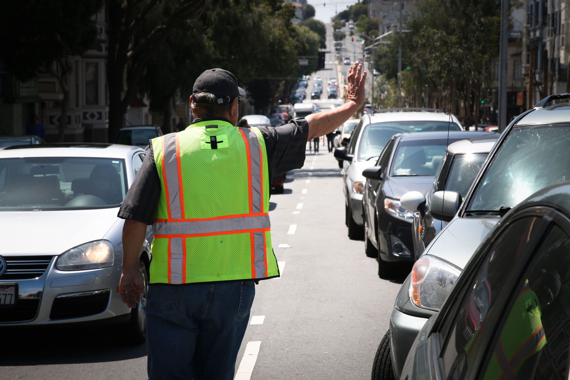 Jimenez says sometimes looking official means his parking crew is verbally assaulted by drivers, especially when big events happen like Bay to Breakers.