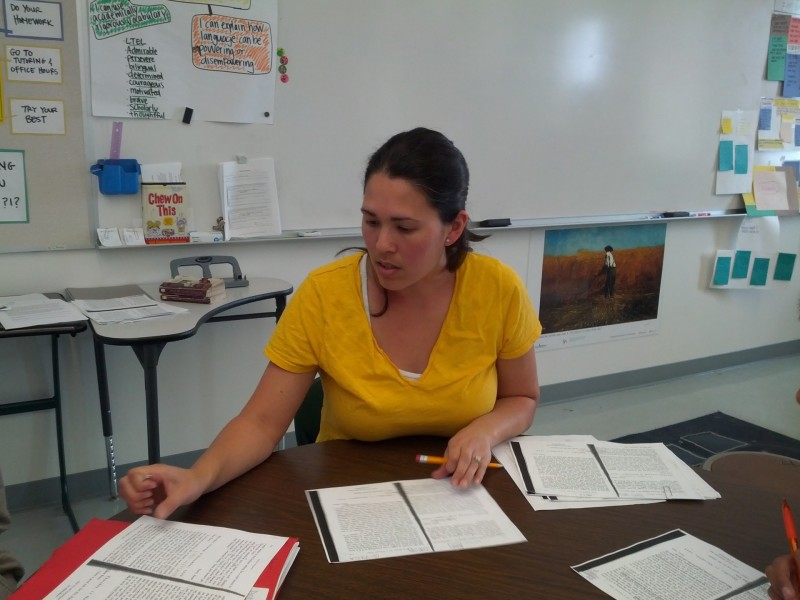 Mariko White teaches long-term English learners at Coliseum College Prep Academy.