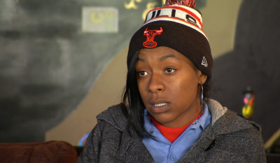 Tiera McGill, 26, lives in East Oakland with her young child. (KQED Newsroom).