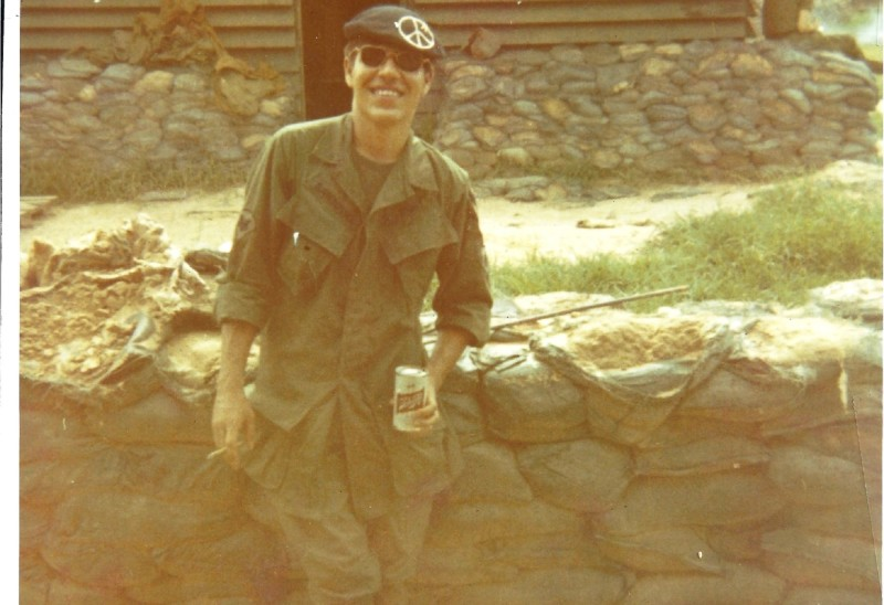 Tom Sandoval, father of Pomona College professor Tomas Summers Sandoval, while on active duty during the Vietnam War