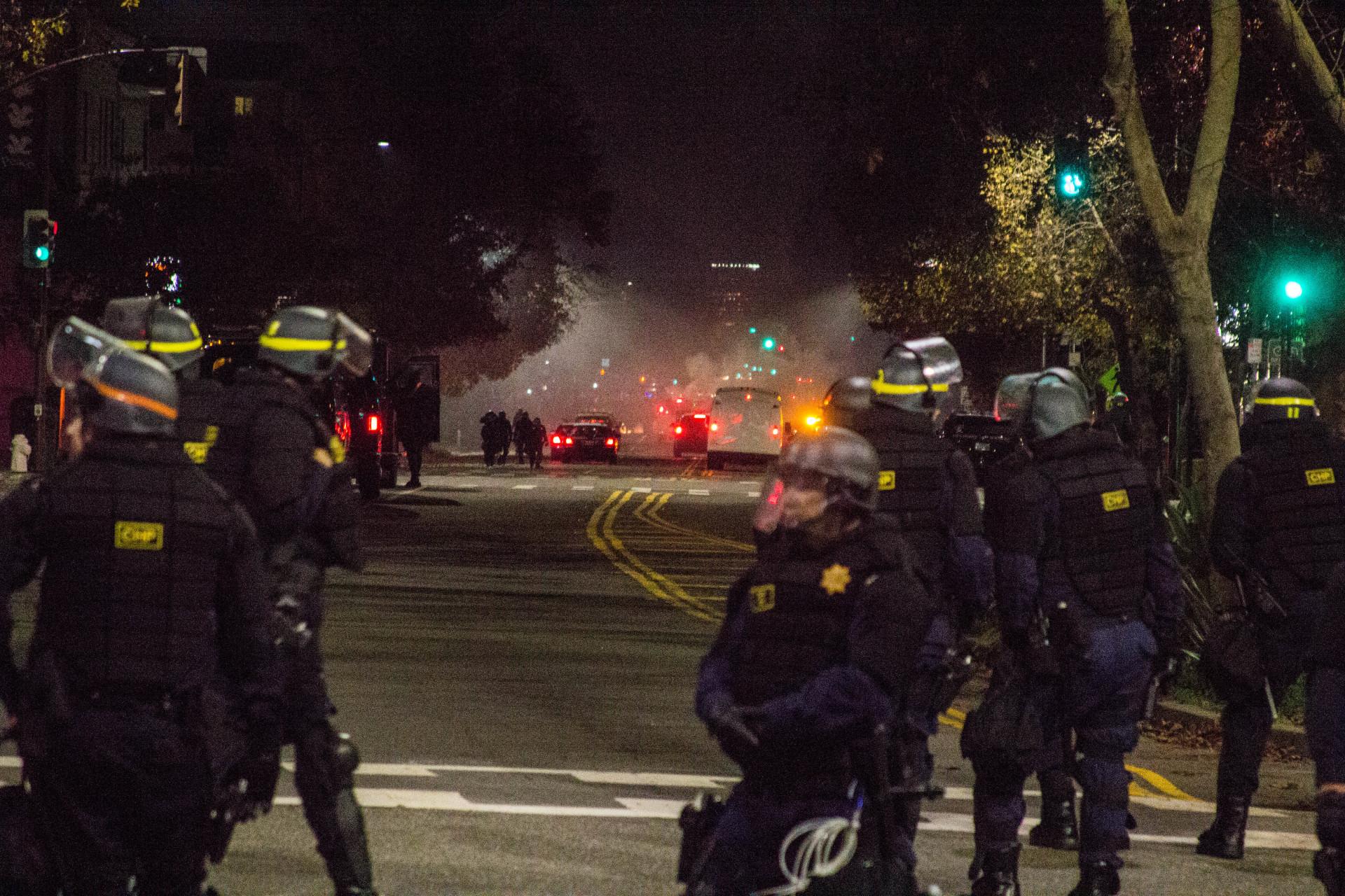 Police Protest Tactics Berkeley Cops' Protest Tactic