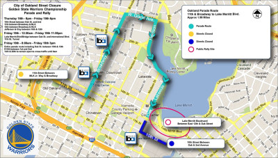 Warriors parade route.