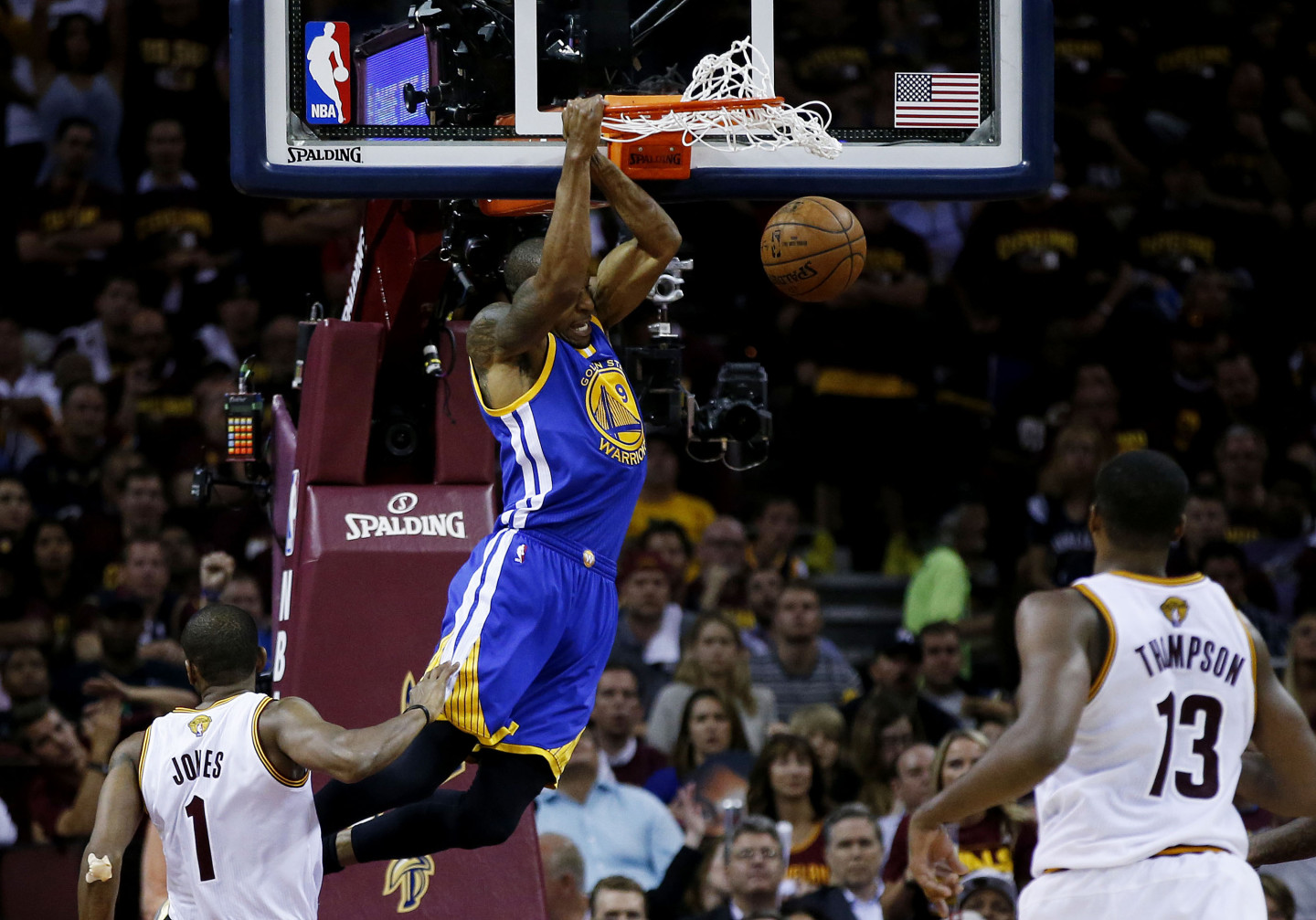 Finals MVP Andre Iguodala had an incredible game, scoring 25 points while keeping LeBron James in check on defense.