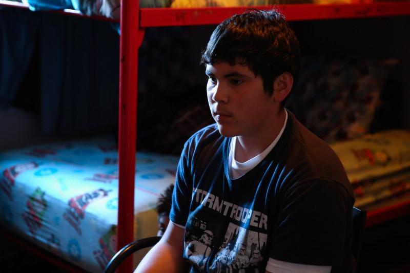 Jose Daniel Luque plays video games after school.