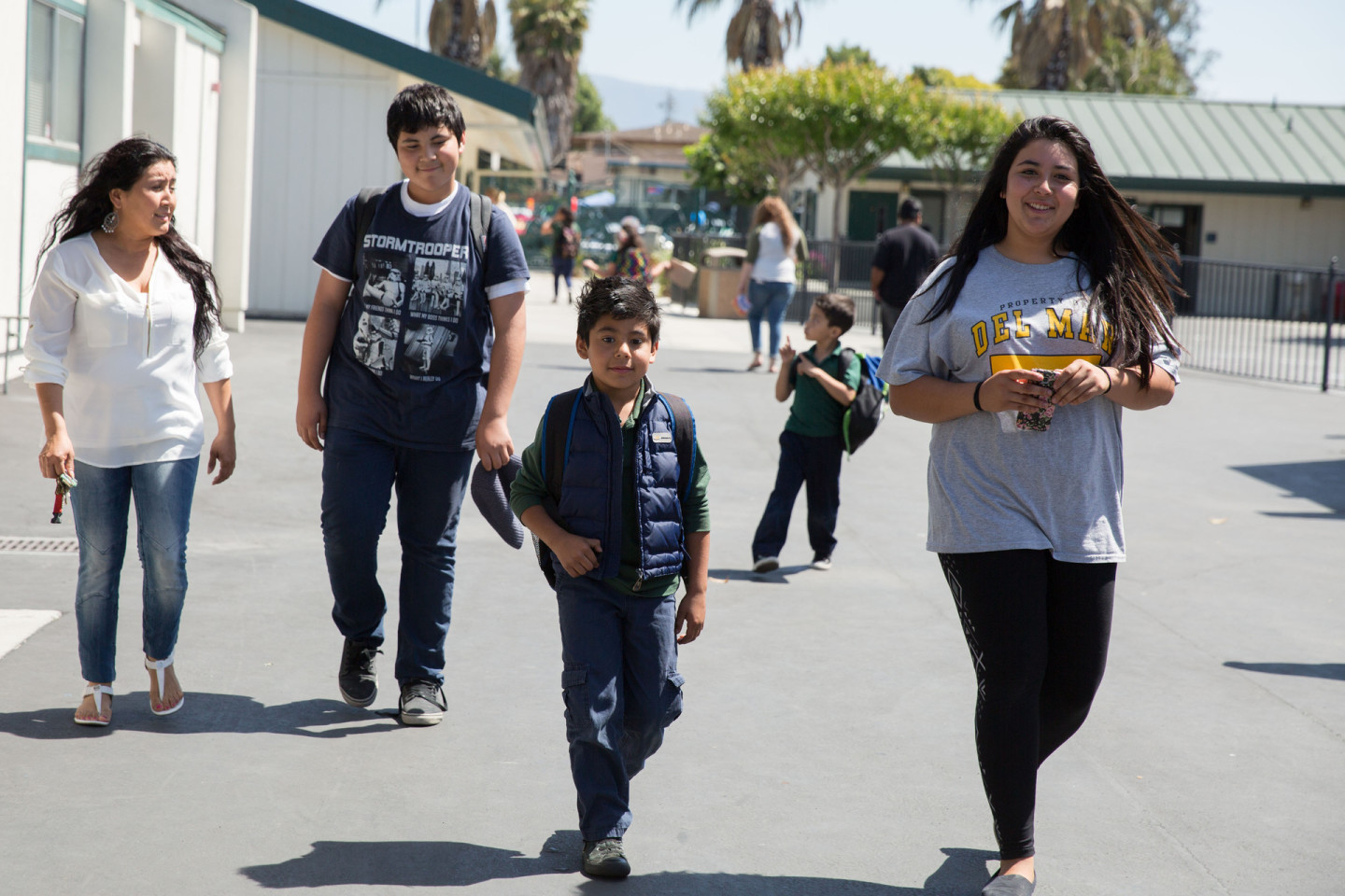 The Luque siblings all started school as English-language learners. Jeremy Raff/KQED