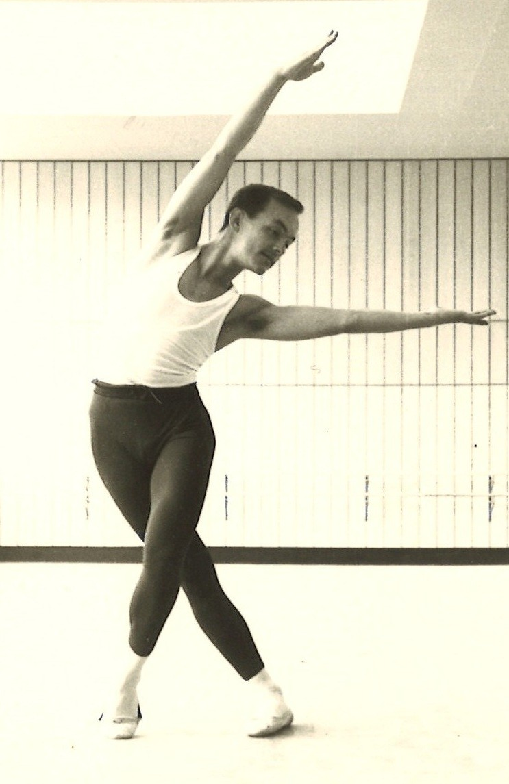 Carvajal strikes a pose while rehearsing a ballet as a young dancer.