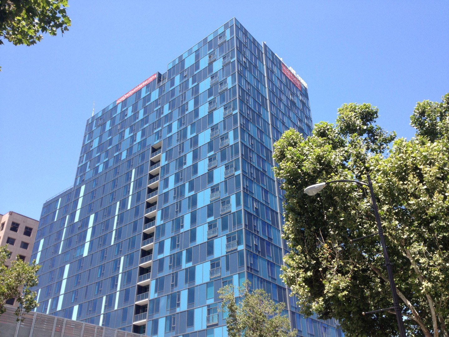 One South Market, one of the newest additions to San Jose's downtown skyline. Under a law upheld by the state Supreme Court, San Jose can require new developers to set aside some of their units for sale below market value.