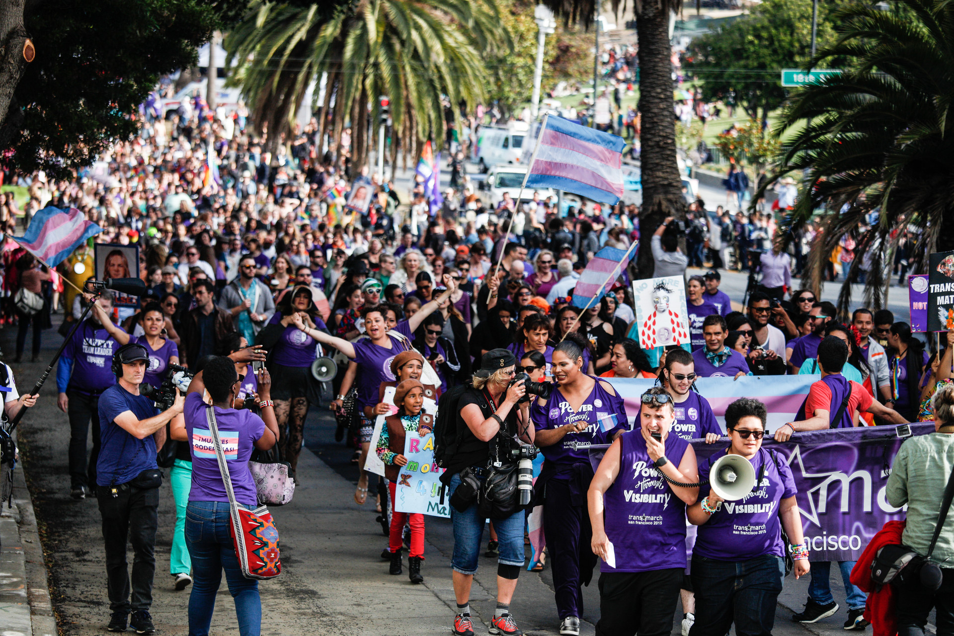 Thousands of people celebrated during San Francisco's Trans March.