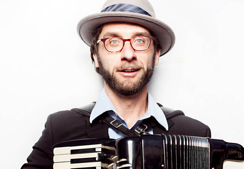 Oakland accordionist Rob Reich.