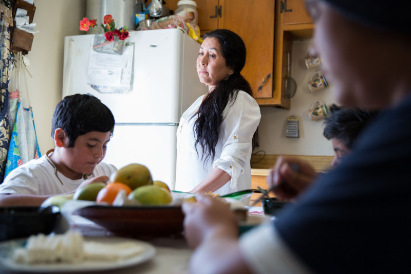 Veronica Luque works hard to stay involved in her children's education.