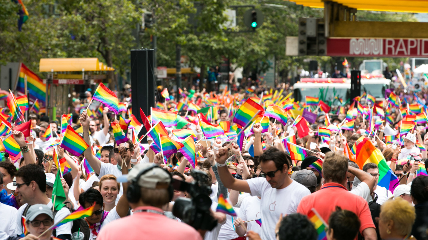 Thousands gathered for 2015 San Francisco Pride Parade. Jeremy Raff/KQED