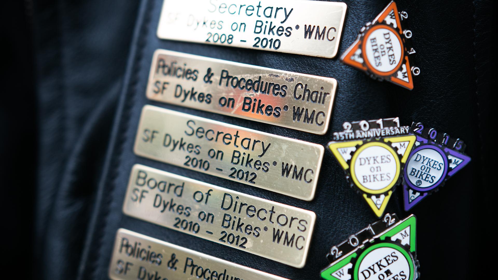 Soni Wolf, secretary of San Francisco Dykes on Bikes (Jeremy Raff/KQED).