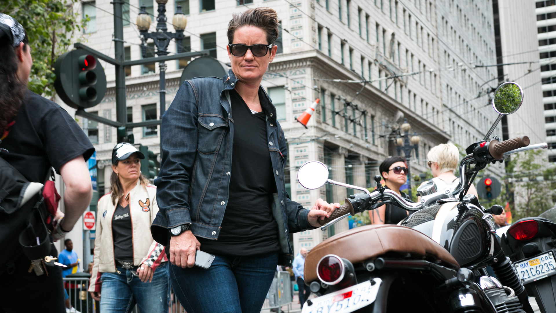 Lydia Brown has been riding in the parade for 10 years (Jeremy Raff/KQED).