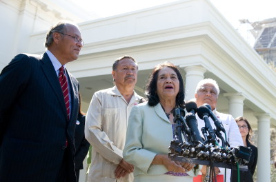 Activist Dolores Huerta Arrested While Protesting