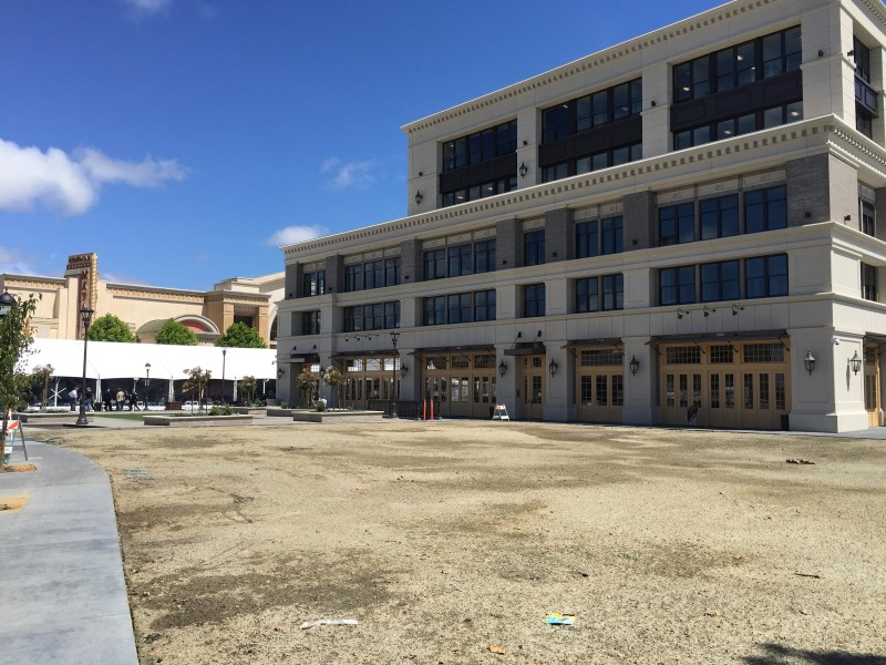 The new Taylor Farms headquarters in downtown Salinas. Next to it, a festival tent hosted the Forbes AgTech Summit.