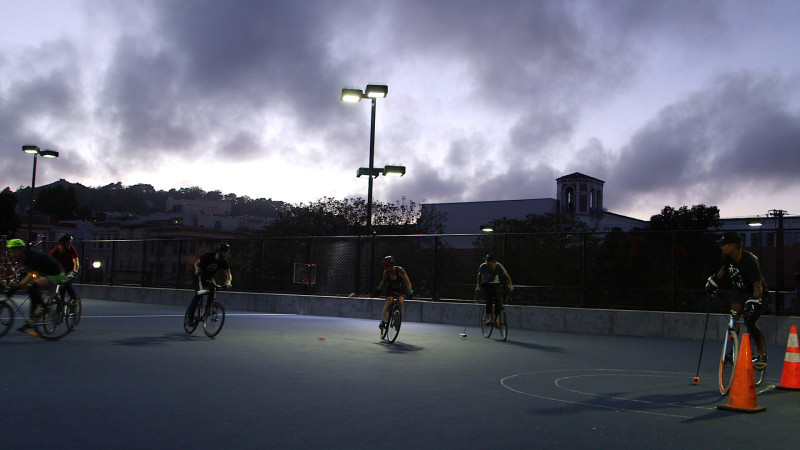 San Francisco's bike polo league has found a new home at Dolores Park.