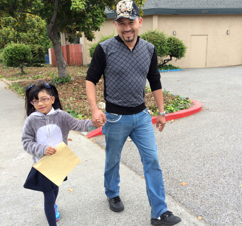 Janitor Jesus Solorio says he will do anything to make a better life for his daughter.