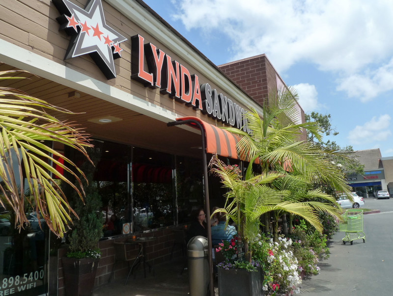 The storefront of Lynda Sandwich in Westminster, Orange County.