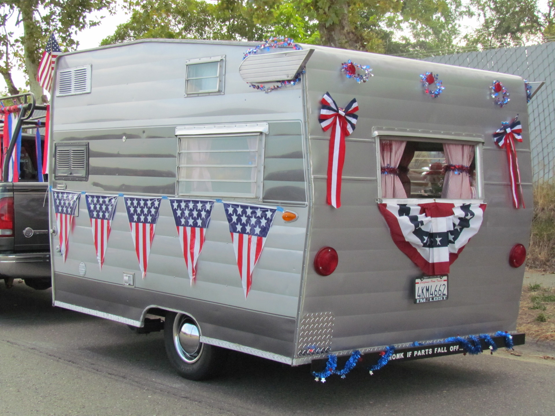 For some, restoring vintage camper trailers like this one is part hobby, part addiction.
