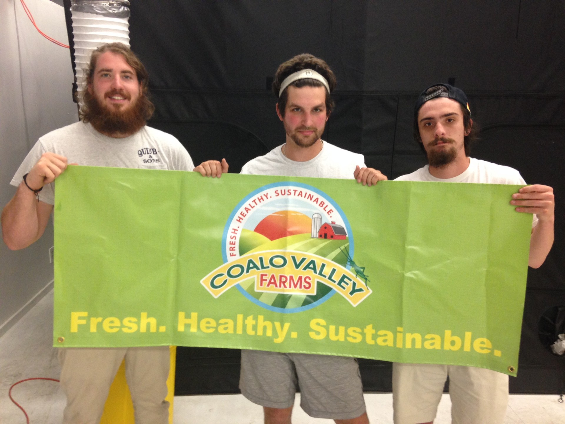 Coalo Valley Farms founders (from left) Peter Markoe, Elliot Mermel and Nate Snow.