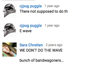 """YouTube Comments on a video titled, """"The Wae at AT&T Park (Giants vs. A's)."""