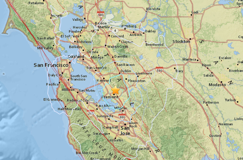 4 0 earthquake shakes fremont bay area
