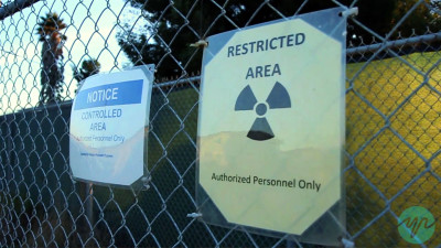 Many buildings on Treasure Island are closed and marked as radioactive, which concerns several of the families who live there. (Chaz Hubbard/Youth Radio)